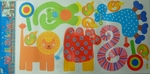 Color Animals (kids room theme) - PVC Wall Decal Sticker