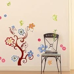 Colorful Tree Motif - PVC Wall Decal Sticker