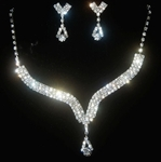 'Crystal-Bling' Theme Earring & Necklace Wedding Jewellery Set