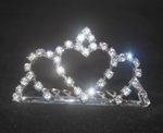Crystal Hearts Tiara for Girls