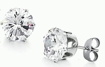 10mm CZ Diamond Stud Earring (equivalent to 3.5 Carats)