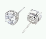 7mm CZ Diamond Stud Earrings (equivalent 1.25 Carats)
