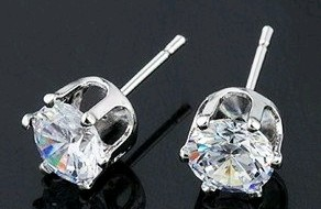 4mm CZ Diamond Stud Earring (equivalent to 0.25 Carats)