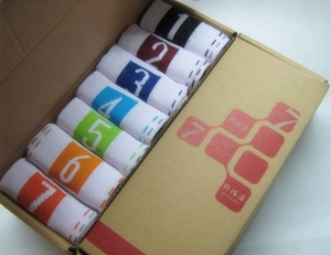 """Days of the Week"" Novelty Socks (set of 7 pairs)"