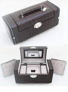 Deluxe Jewelry Box (Medium,Dark Brown Color)