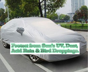 Deluxe Large Car Covers (protects from the Sun, Dust & more)