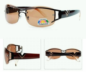 Designer Sunglasses (with Polarized Brown Lens)
