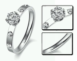 Diamond Engagement Ring (CZ synthetic)