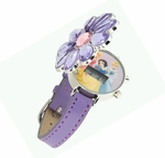 DISNEY Princess Kids Watch (Flower Cover / Purple Strap)