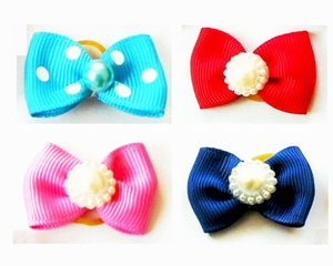 Dog Hair Bow - Set of 4 Assorted Designs
