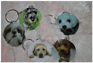 Dog theme Keychains (value set of 5)
