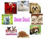 Dog theme Wall Decal (value set of 8)