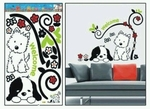 Dogs Motif  - PVC Wall Decal Sticker