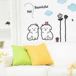 Dogs Motif PVC Wall Decal Sticker