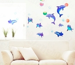 Dolphins in Ocean  - PVC Wall Decal Sticker