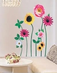 Flower Motif - PVC Wall Decal Sticker