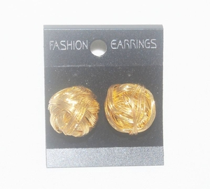 'Gold Shambala' Stud Earrings