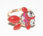 'Goldfish' Crystal Ring (Red Color)