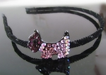 Hair Accessory (Hairband)  with XXX Crystal Dog Motif Design