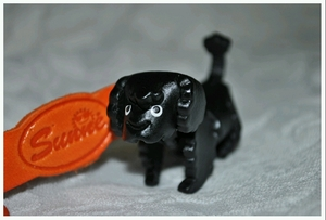 Hand Crafted Black Poodle Leather Keychain
