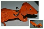 Hand Crafted Dachshund Leather Keychain