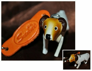 Hand Crafted Jack Russell Leather Keychain