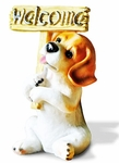 'Have a Beagle Welcome' Dog Figurine