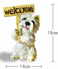 'Have a Westin Terrier Welcome' Dog Figurine