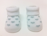 ''Hearts' Cute Baby Socks (White, suitable for 6-24 months)