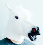 Horse Head Mask (color White, latex)