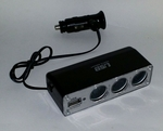 In Car USB & 12v Socket (3 way) Mountable Unit