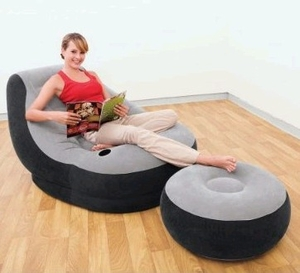 Inflatable Sofa Lounger (with Ottoman Foot Rest)