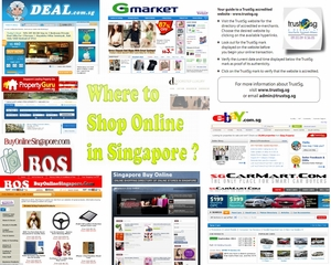 Infographic on Where to Shop Online in Singapore?