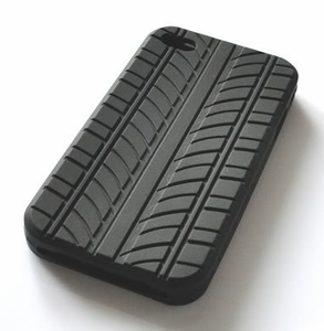 iPhone 4 Silicone Case with Unique Tire Pattern