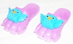 Kids 'Cute Bird' Sandals (Color Purple)