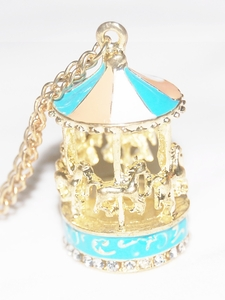 Korea Fashion Jewelry - Carousel Pendant