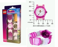 LEGO BELVILLE Pink Kids Watch
