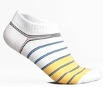 Low-Cut Sports Socks (x2 pack, color White/Yellow)