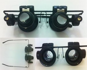 Magnifying Glasses with LED Lights (x20 magnification)