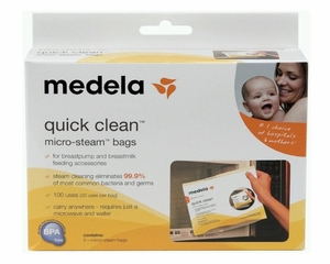 Medela Quick Clean Micro-Steam Bags Pack (5 bags)