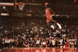 "Michael Jordan Slam Dunk Poster (36"" by 24"")"