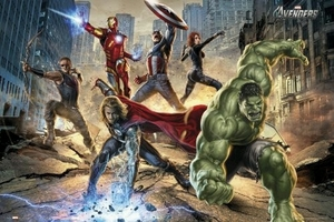 "Movie Poster of Marvel's The Avengers (36"" by 24"" landscape version)"