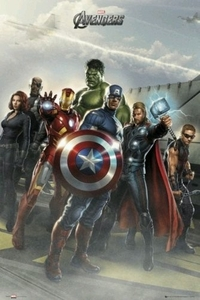 "Movie Poster of Marvel's The Avengers - Standing Pose (36"" by 24"" Portrait version)"
