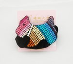 Multi-Color Rhinestone Crystals Velvet Hairband