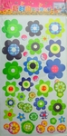 Multicolor Flower Patterns - PVC Wall Decal Sticker