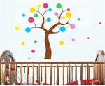 Multicolor Polkadot Tree - PVC Wall Decal Sticker