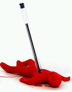 "Novelty 'Dead Fred"" Pen Holder"