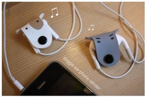 Pair of 'Doggie' Earphone Winders