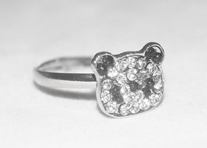 'Panda Crystals' Cute Korean-style Ring