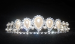 'Pearl-Crystal' theme Tiara Jewellery